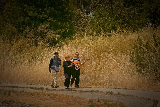 Photo:Music man in the park By bluesbby