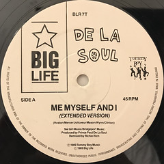 DE LA SOUL:ME MYSELF AND I(LABEL SIDE-A)
