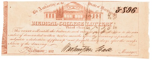 1817 Medical College Lottery ticket