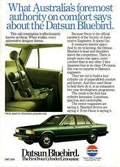 1982 Datsun Bluebird Nissan Aussie Original Magazine Advertisement