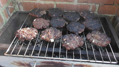 BBQ pork and pigeon burgers May 18
