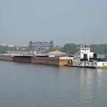 a2g050: Robert Greene downbound approaching Portland Canal, Louisville