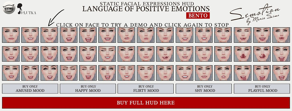 SEmotion Female Bento Facial Expressions FULL HUD