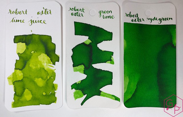 @RobertOsterInk Lime Juice Ink Review @MilligramStore 10