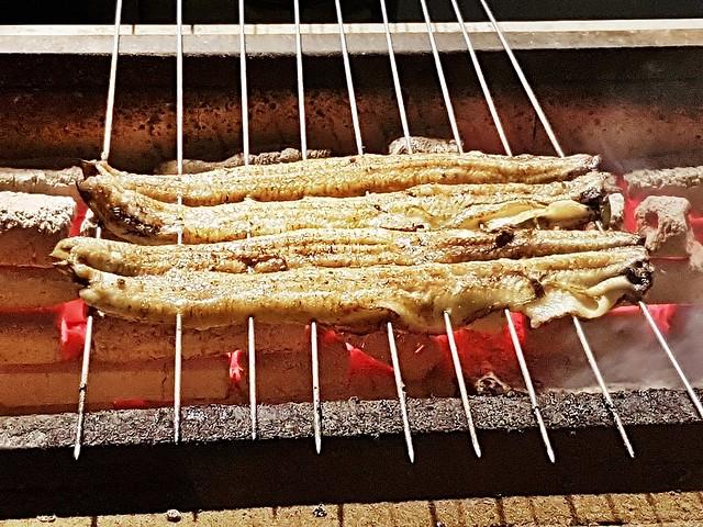 Grilling Eel