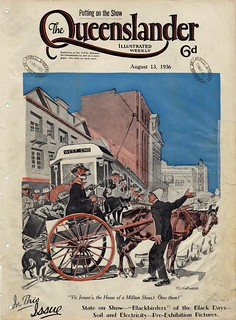 Illustrated front cover from The Queenslander, August 13, 1936