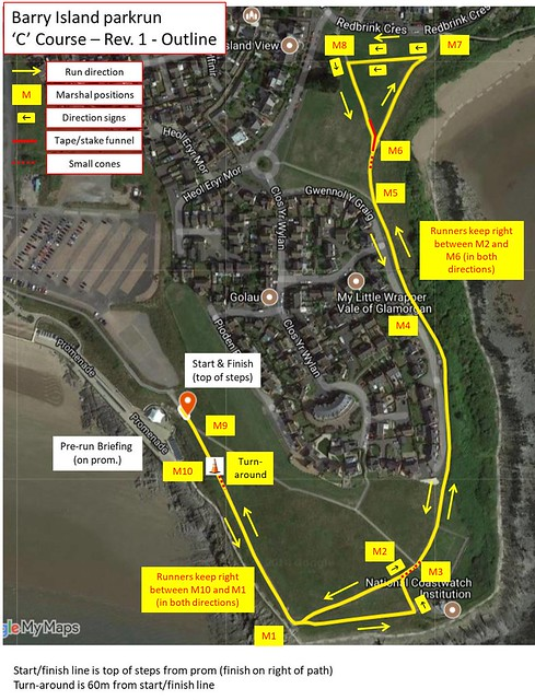 Barry Island parkrun - C Course Map