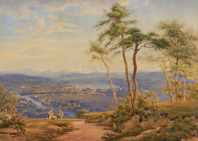 Jakob Suter - Ansicht von Zürich (1838)