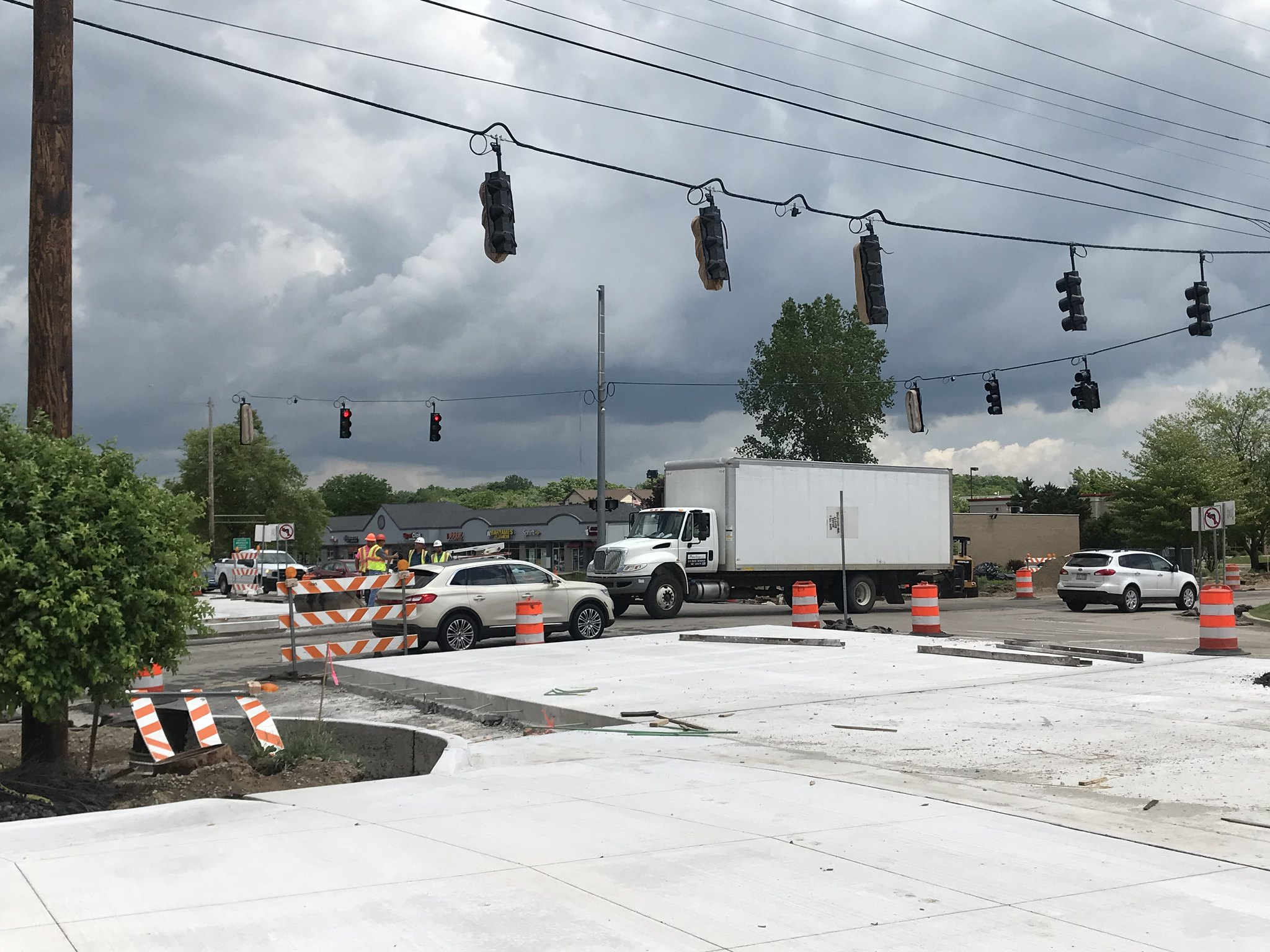 Construction Continues at the Okemos Road and Jolly Road Intersection