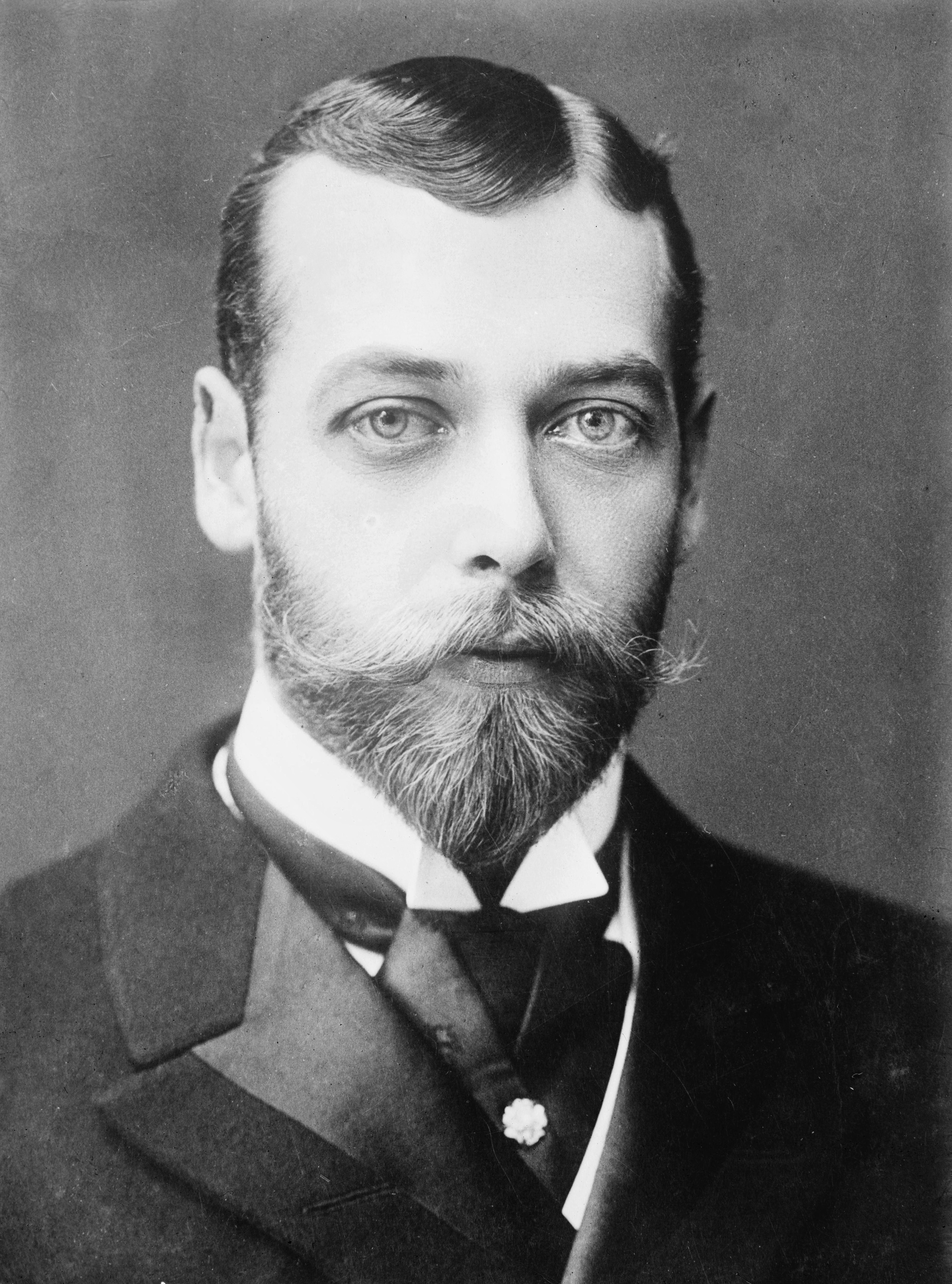 King George V. Photo taken 1893, apparently published in 1928.