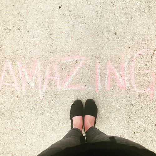 you are super / amazing #youaresuper #amazing #sidewalkchalk