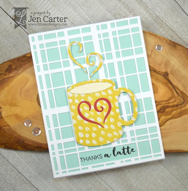 Jen Carter Coffee Talk Plaid Latte Love wm