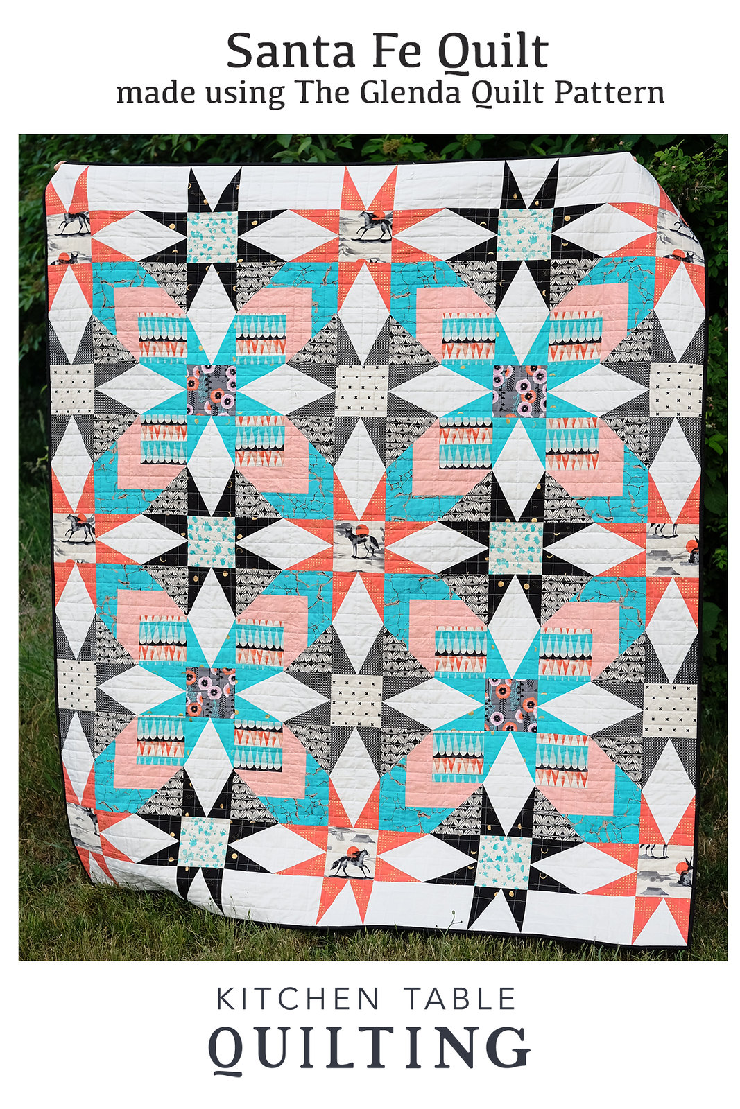 Santa Fe Quilt - Made Using the Glenda Quilt Pattern by Kitchen Table Quilting