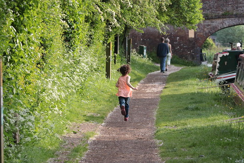 Running down the towpath