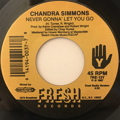 CHANDRA SIMMONS:NEVER GONNA LET YOU GO(LABEL SIDE-B)