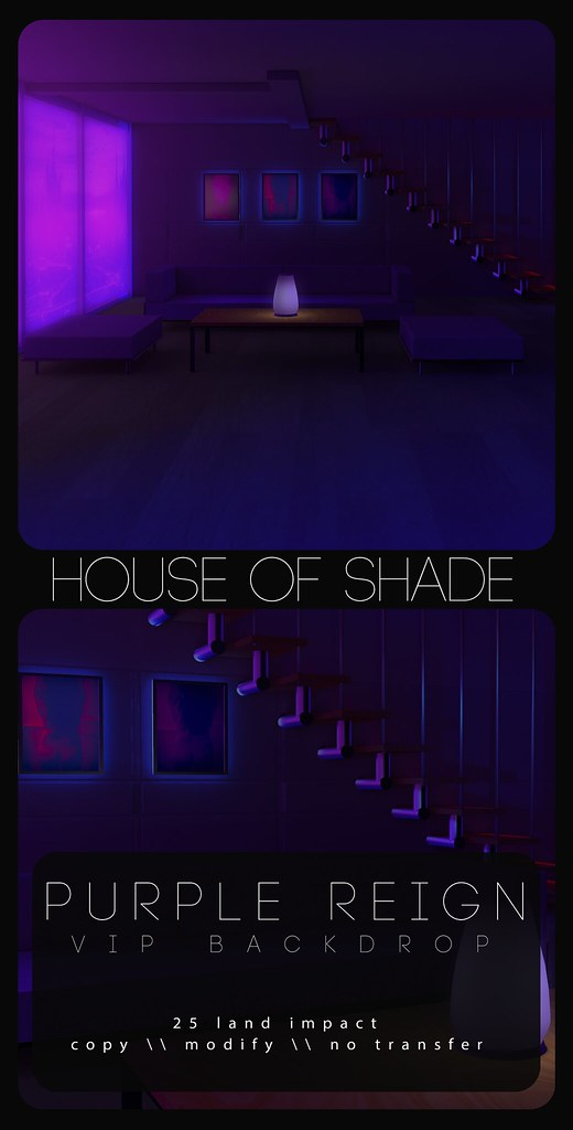 House of Shade VIP - Purple Reign Backdrop - TeleportHub.com Live!