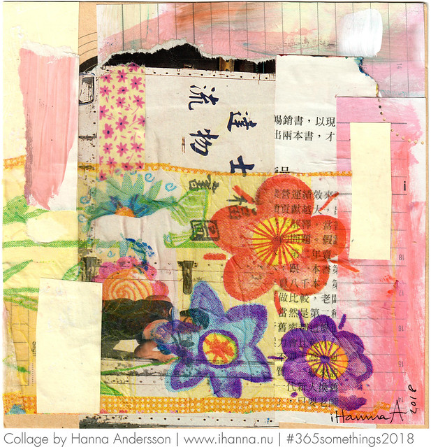 Chinese Wall Flowers - Collage no 105 by iHanna a.k.a. Hanna Andersson, Swedish artist #365somethings2018