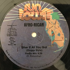 AFRO-RICAN:GIVE IT ALL YOU GOT(LABEL SIDE-A)