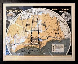 CTA Rail Transit Map from 1950's