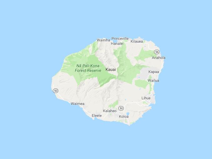 Mapa Kauai