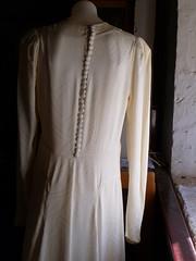 Rae Crawford wedding gown back detail 1942