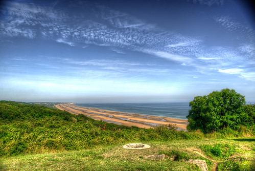 Omaha Beach - view from WN 60, Fox Red sector, Normandy