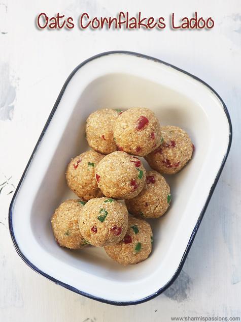 oats cornflakes ladoo recipe
