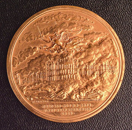 1871 Chicago Fire Medal reverse