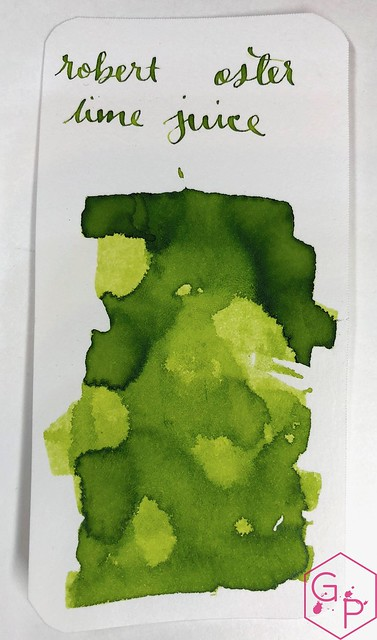 @RobertOsterInk Lime Juice Ink Review @MilligramStore 8