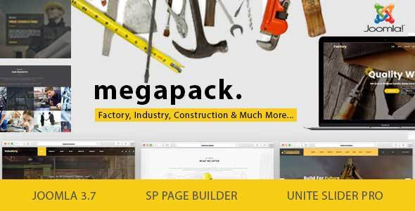Mega Pack v1.8 - Factory, Industry, Construction Joomla Template