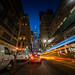 Light Trail to Freedom Tower by ShutterRunner