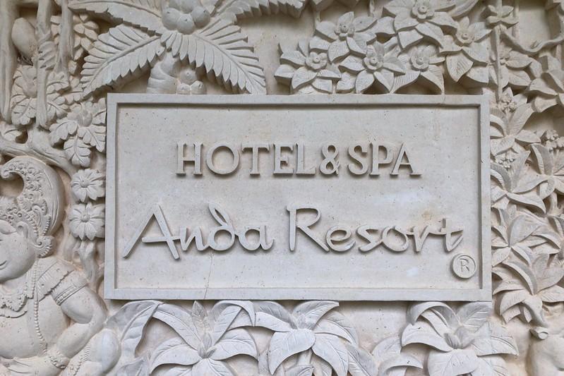 HOTEL SPA ANDA RESORT伊豆高原看板