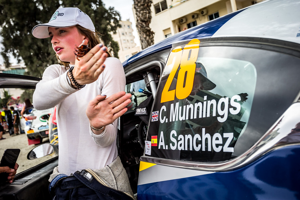 MUNNINGS Catie (GBR), SANCHEZ Alba (SPA), SAINTELOC JUNIOR TEAM, PEUGEOT 208, portrait during the 2018 European Rally Championship ERC Cyprus Rally,  from june 15 to 17 at Larnaca, Cyprus - Photo Thomas Fenetre / DPPI