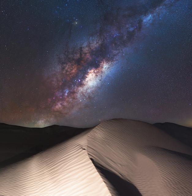 Milky Way over Nambung Desert, Western Australia