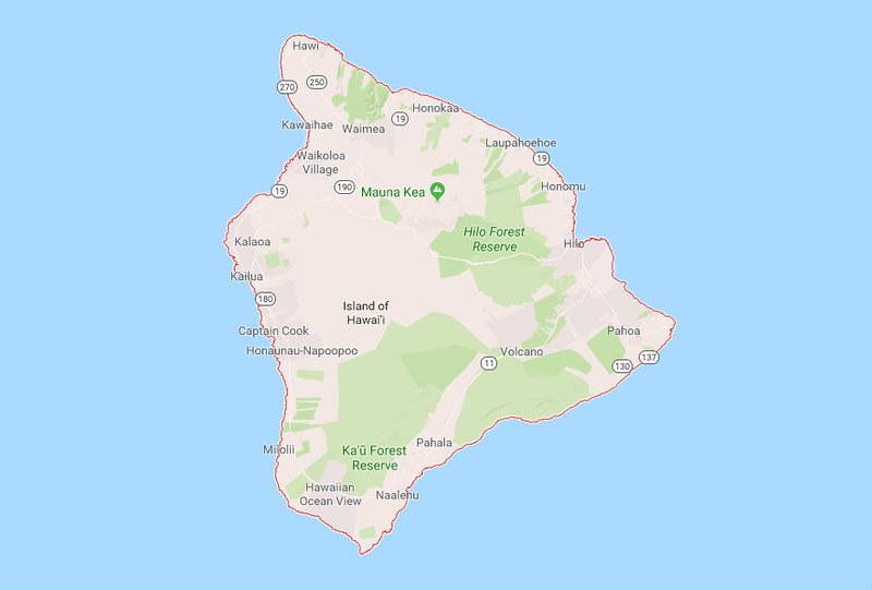 Big Island Mapa