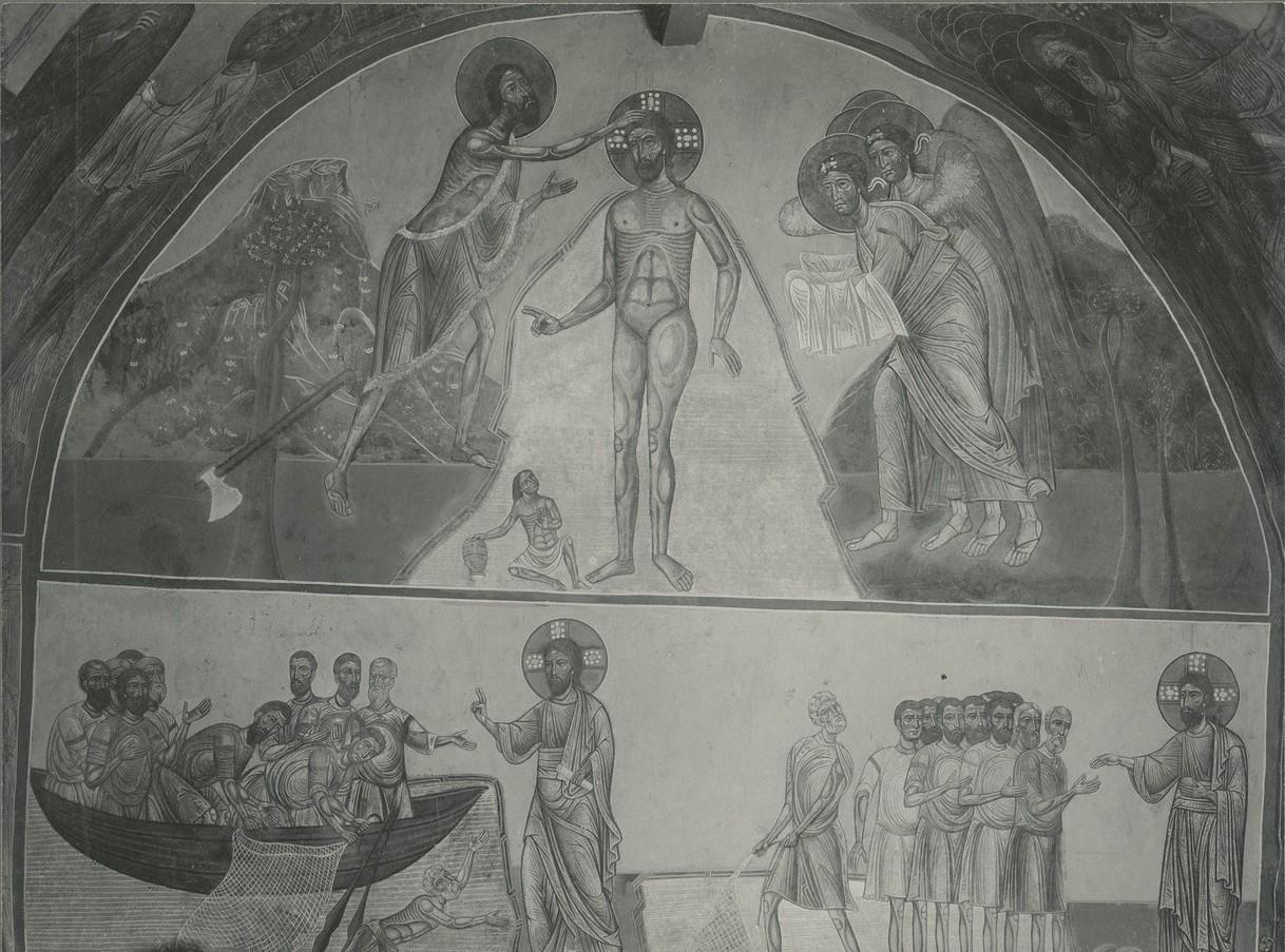 Фрески  «Богоявление Господне», «Явление Христа апостолам на Тивериадском море», «Чудесное насыщение пятью хлебами»