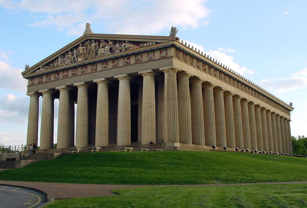 The Parthenon in Centennial Park, Nashville, Tennessee. Photo taken by: Ryan Kaldari on April 27, 2005.