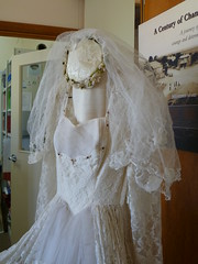 Maureen Collins wedding dress detail 1957