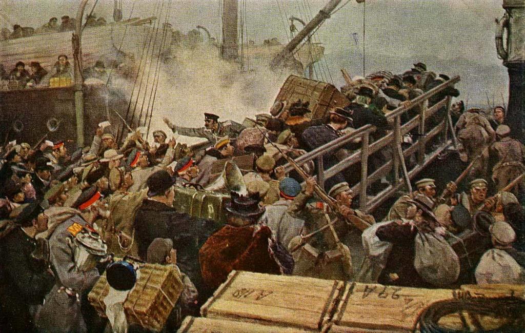 俄国内战与革命的写实绘画14