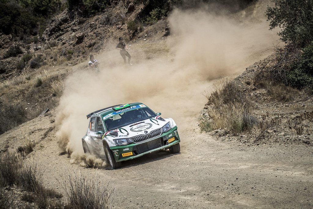 14 NOBRE Paulo (BRA), MORALES, Gabriel (BRA), PALMEIRINHA RALLY, SKODA FABIA R5, action during the 2018 European Rally Championship ERC Cyprus Rally,  from june 15 to 17  at Larnaca, Cyprus - Photo Gregory Lenormand / DPPI