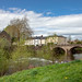 River Monnow and Monnow Bridge, Monmouth, Wales. UK