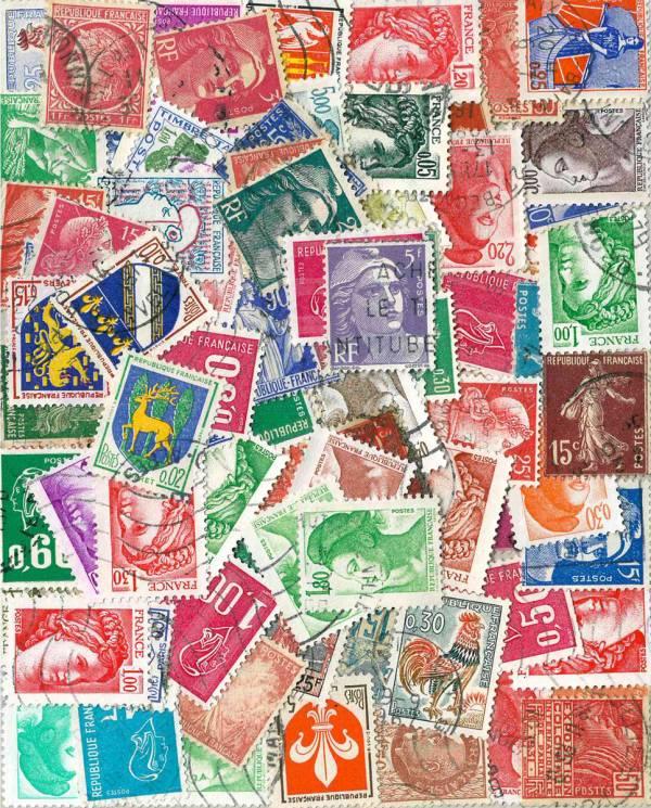 Známky 95 ks rôznych, Francúzsko