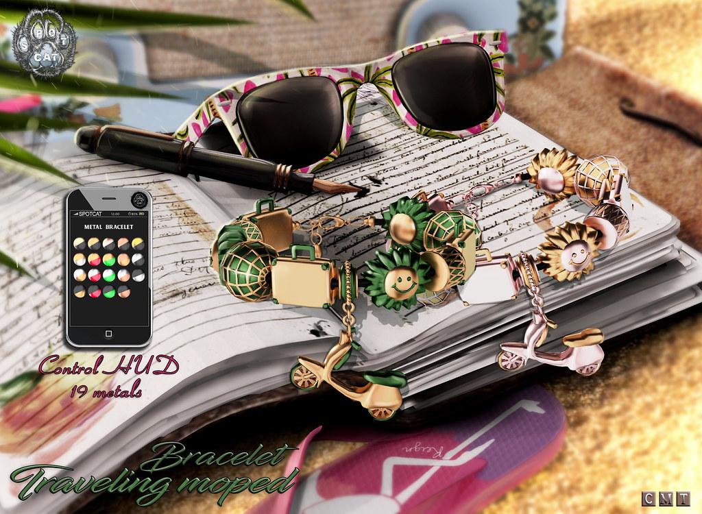 … SpotCat … Traveling moped – Bracelet