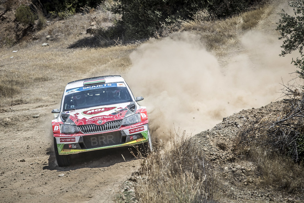 04 HERCZIG Norbert (HUN), FERENCZ Ramon (HUN), MoL RACING, SKODA FABIA R5, action during the 2018 European Rally Championship ERC Cyprus Rally,  from june 15 to 17  at Larnaca, Cyprus - Photo Gregory Lenormand / DPPI