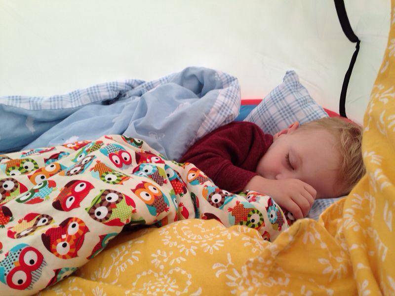 sleeping camp bestival