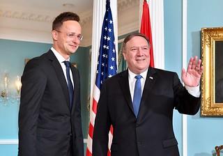 Secretary Pompeo Welcomes Hungarian Foreign Minister Szijjarto to Washington