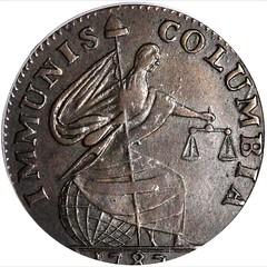 1787 Immunis Columbia Copper obverse