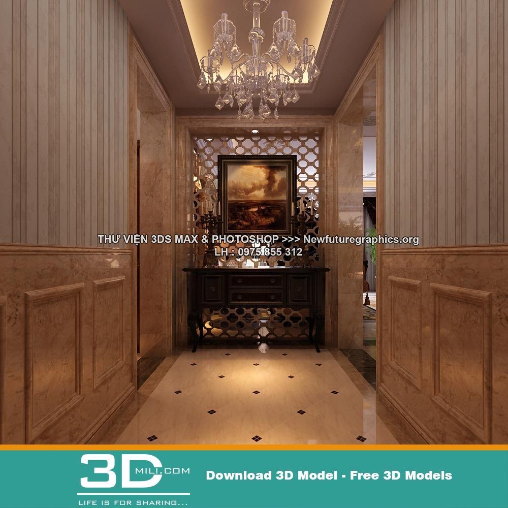 103  Classic Living room 3DSmax file free download - 3D Mili