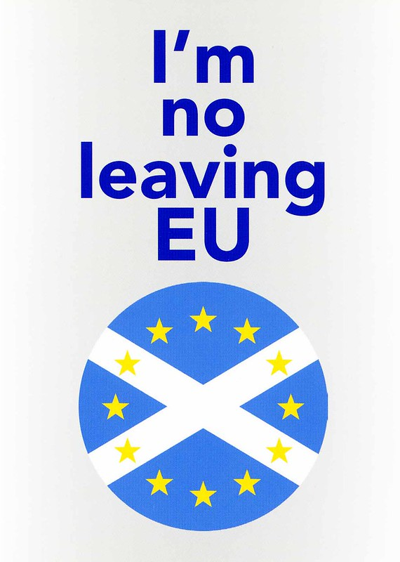 I'm no leaving EU postcard, 2018