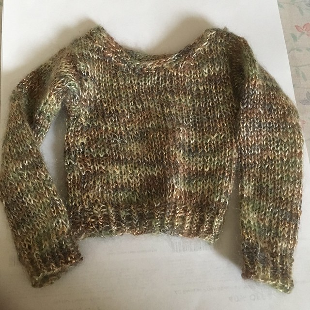 Beautiful soft sweater made by Barb in MA for SD girls - looks lovely on with jeans or tan linen slacks 25